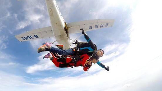 Have you ever experienced the exciting skydiving?