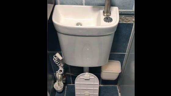 Washing water can be directly used to flush toilets. Is this decoration very interesting?