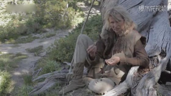 The real-life female wildling has lived alone in the forest for 25 years.
