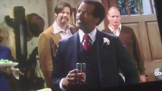All in the Family: Jamie Foxx Flubs Line, Jamie Foxx played Sherman Helmsley's dance shoes.