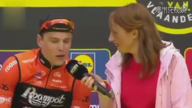 Too funny. The driver accidentally kissed the female reporter. The scene was awkward.