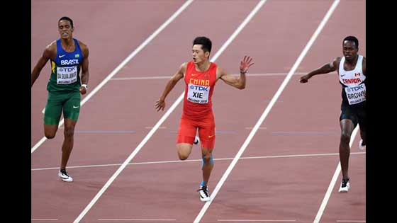 Xie Zhenye once again defeated Xiaochi Yougui and defended the Asian 200-meter dominance
