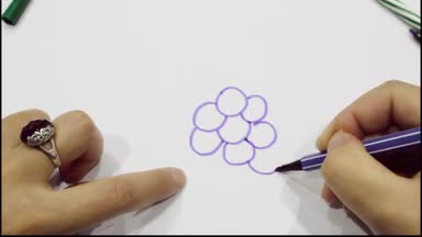 Sketch 2-6-year-old baby Sketch Video Tutorial Grape Painting