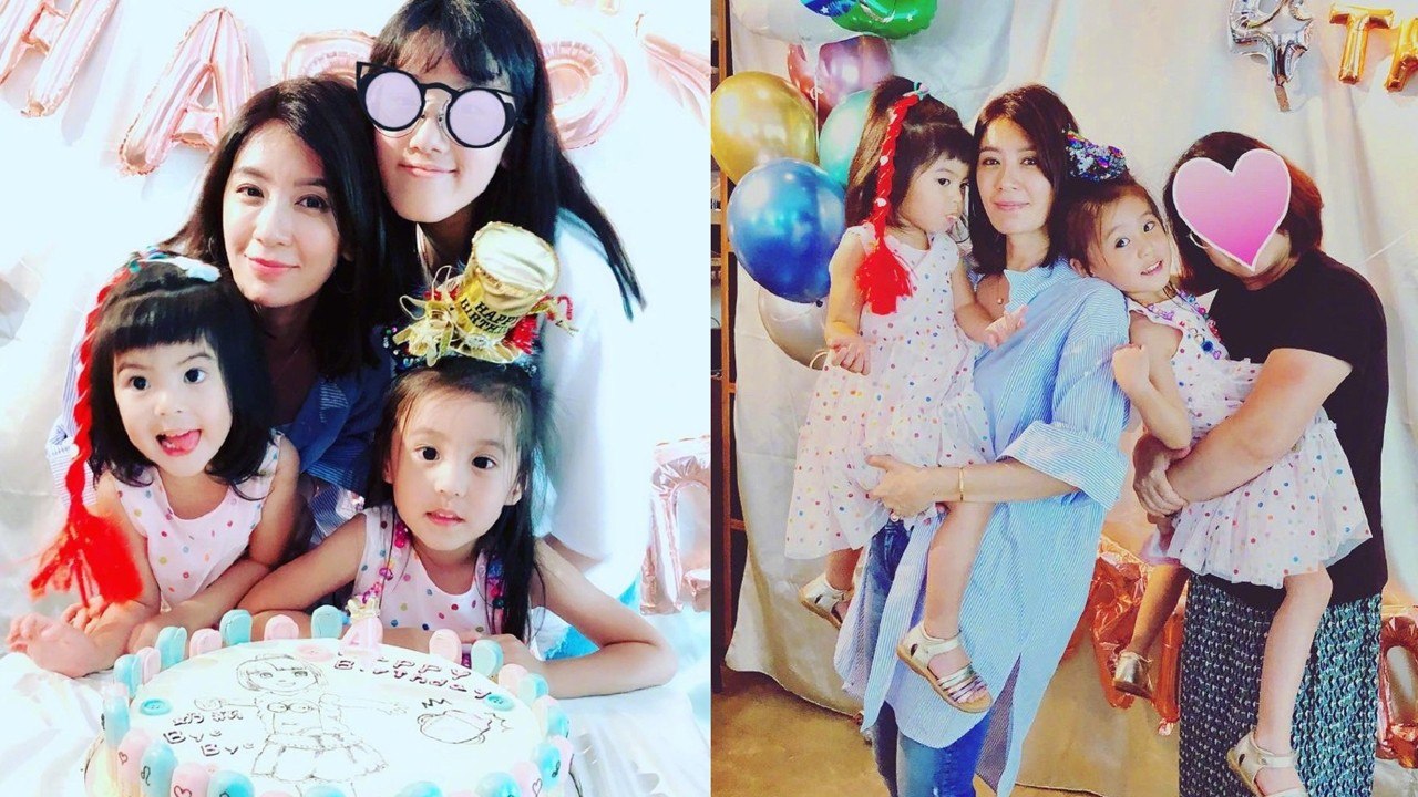 Jia Jingwen celebrated her second daughter's birthday. Four-year-old Xie finally quit breast-feeding successfully. Four beautiful women grabbed the mirror.