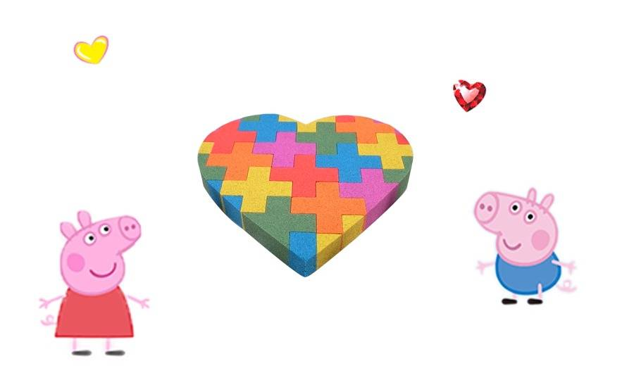 Happy Shape Paradise teaches you how to make colorful jigsaw puzzles with colorful clay