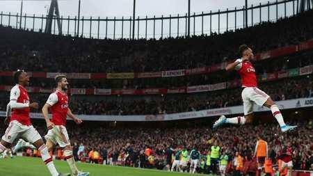 Catilina Aubameyang brilliant moment:Arsenal 3-2 Aston Villa 2019