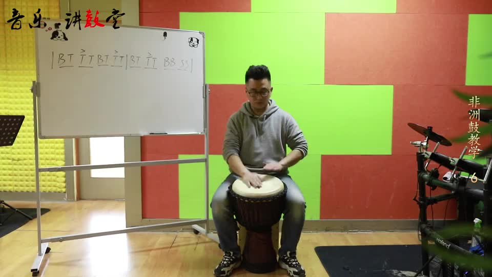 African drum teaching part6, stress teaching, after reading must be well practiced oh