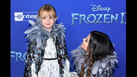 "Selena Gomez and Her Little Sister ""Frozen 2"" Premiere World Red Carpet"